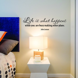 Style and Apply Life Happens Multicolored Vinyl Removable Wall Decal