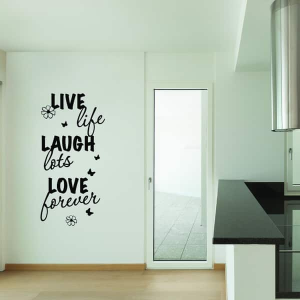 Shop Style And Apply Live Laugh Love Quotes And Sayings Vinyl Decal Sticker Mural Art Home Decor Overstock 12070884