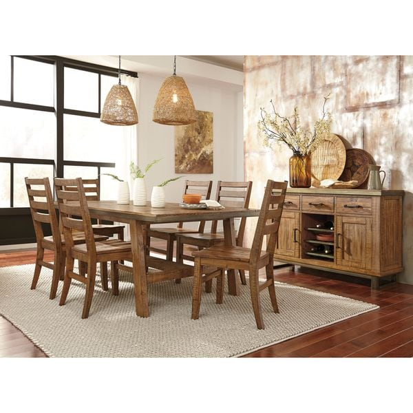 Brown Dining Room Table: Shop Signature Design By Ashley Dondie Brown Rectangular
