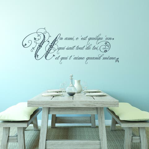 Style and Apply Friendship French Quote Vinyl Wall Decal