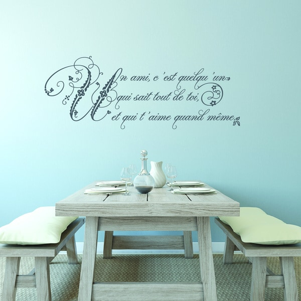 Shop Style And Apply Friendship French Quote Vinyl Wall Decal On