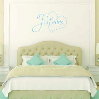 Style and Apply Je t'aime Vinyl Wall Decal