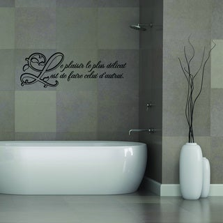 Style and Apply Le Plaisir Vinyl Wall Decal