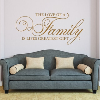 Merveilleux Style And Apply Family Themed Vinyl Wall Decal