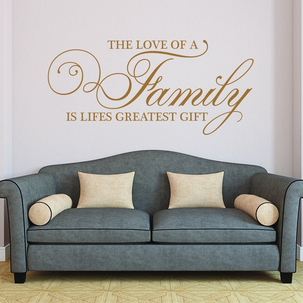 Style and Apply Family-themed Vinyl Wall Decal