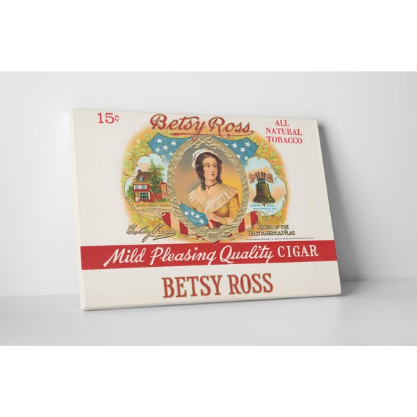 Cigar Label Art 'Betsy Ross' Gallery Wrapped Canvas Wall Art