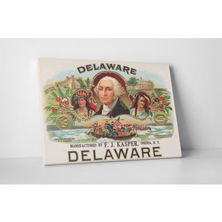 Cigar Label Art 'Delaware' Gallery Wrapped Canvas Wall Art