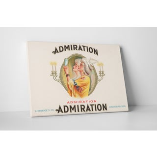 Cigar Label Art 'Admiration' Gallery Wrapped Canvas Wall Art