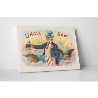 Cigar Label Art 'Uncle Sam' Gallery-wrapped Canvas Wall Art