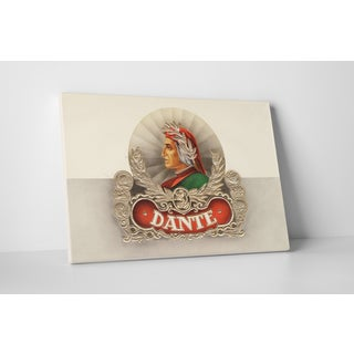 Cigar Label Art 'Dante' Gallery Wrapped Canvas Wall Art