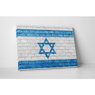 Flags 'Vintage Israel Flag' Gallery Wrapped Canvas Wall Art