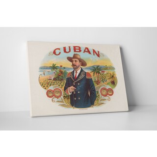 Cigar Label Art 'Cuban' Gallery Wrapped Canvas Wall Art