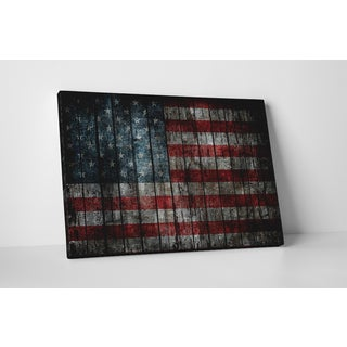 Flags 'Vintage USA Flag' Gallery-wrapped Canvas Wall Art