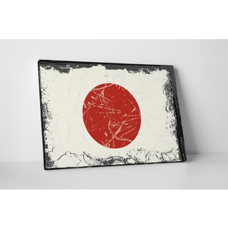 Flags 'Vintage Japan Flag' Gallery Wrapped Canvas Wall Art