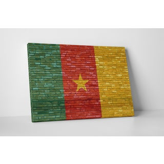 Flags 'Vintage Cameroon Flag' Gallery Wrapped Canvas Wall Art