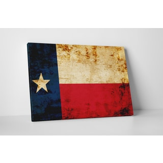 Flags 'Vintage Texas Flag' Gallery Wrapped Canvas Wall Art