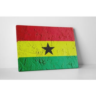 Flags 'Vintage Ghana Flag' Gallery Wrapped Canvas Wall Art