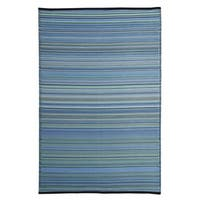 Clay Alder Home Duke Blue/ Multicolor Polypropylene Stripe Indoor/ Outdoor Reversible Area Rug - 5' x 8'