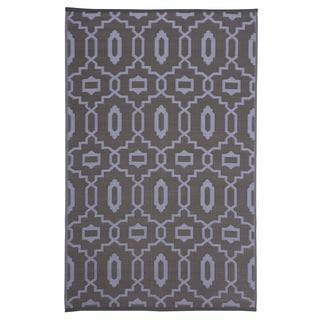 Trellis Grey Indoor/Outdoor Reversible Area Rug (5' x 8')