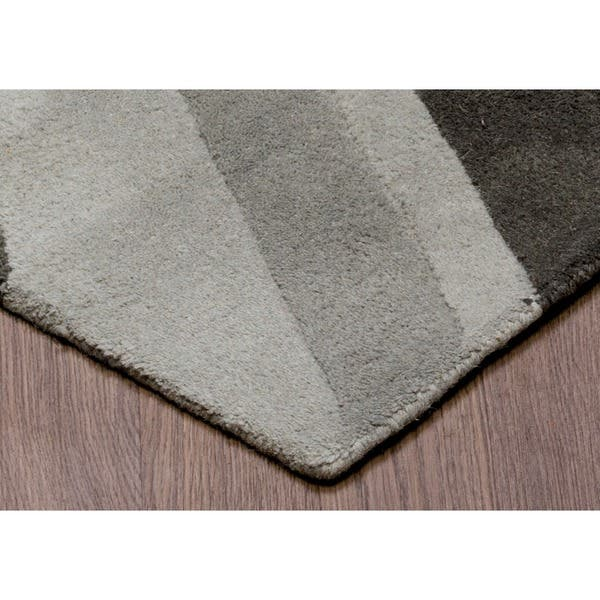 Union Jack Grey Wool Rug 4 10 X 7 Free Shipping