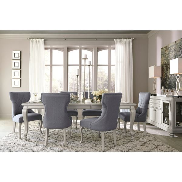 signature design by ashley coralayne silver dining room table - Silver Dining Room Interior