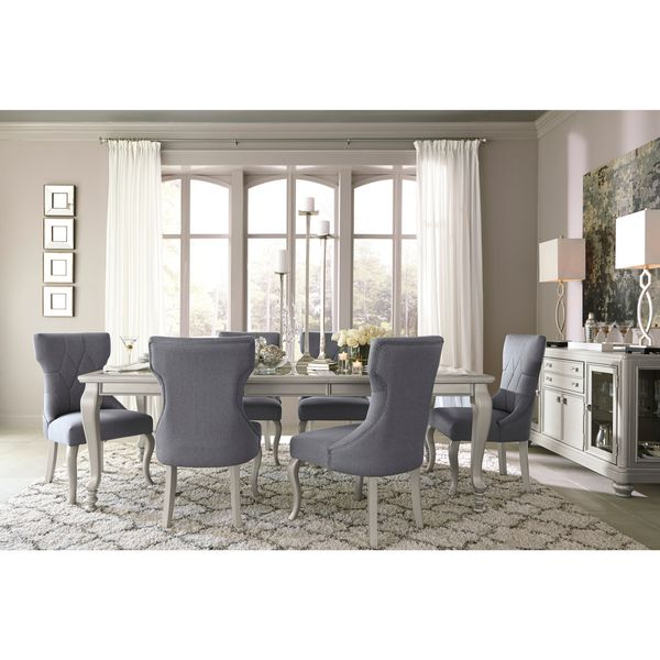Signature Design By Ashley Coralayne Silver Dining Room Table