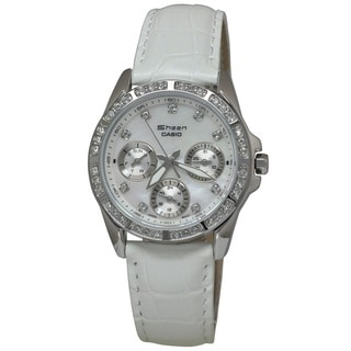 Casio Women's SHN3013L-7A Sheen White MOP Watch
