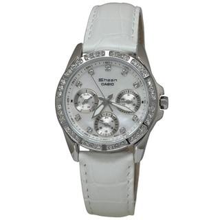 Casio Women's SHN3013L-7A Sheen White MOP Watch