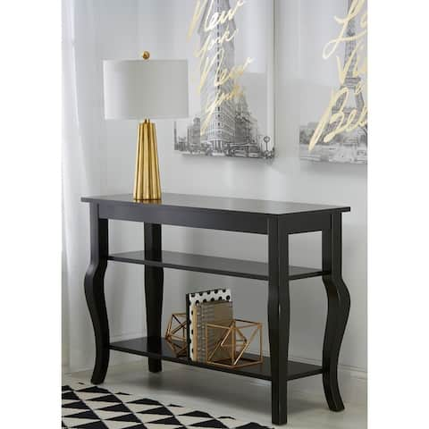 Kate and Laurel Lillian Wood 2-shelf Console Table with Curved Legs