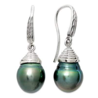 Pearl Lustre Black Tahitian South Sea Pearl Earrings