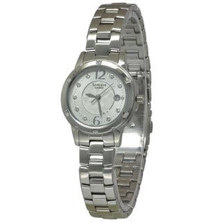 Casio Women's SHE4021D-7A Sheen Silver Watch|https://ak1.ostkcdn.com/images/products/12071095/P18938823.jpg?impolicy=medium