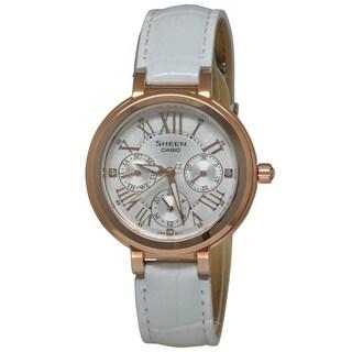 Casio Women's SHE3034GL-7A Sheen White Watch