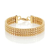 High Polish Goldplated Stainless Steel  Box Chain Bracelet