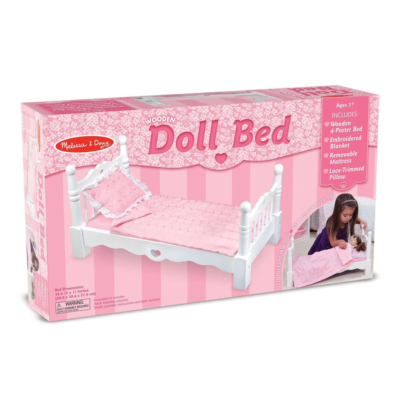 Melissa Doug Wooden Doll Bed Overstock 12071105