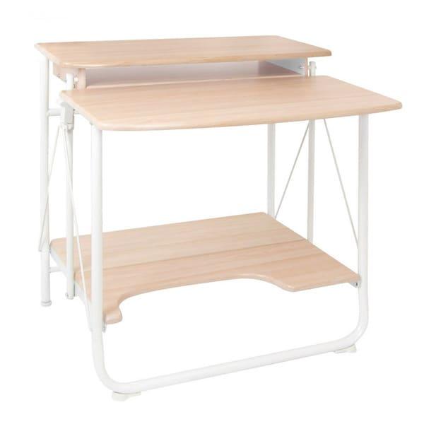 Terrific Shop Offex Stow Away White Maple Home Office Folding Desk Uwap Interior Chair Design Uwaporg