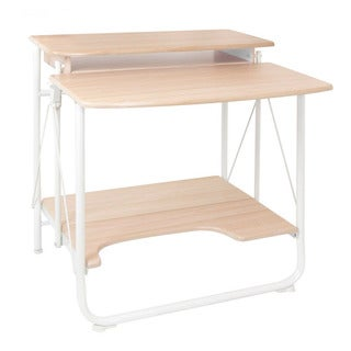 Offex Stow Away White Maple Home Office Folding Desk