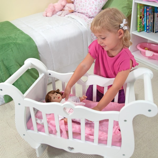 Melissa & Doug Wooden Doll Crib