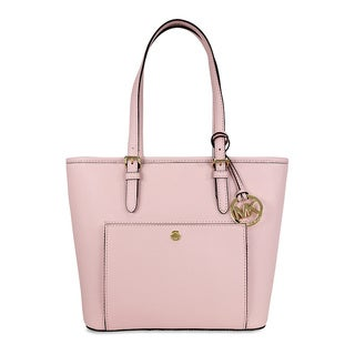 Michael Kors Jet Set Blossom Saffiano Medium Top-zip Tote Bag