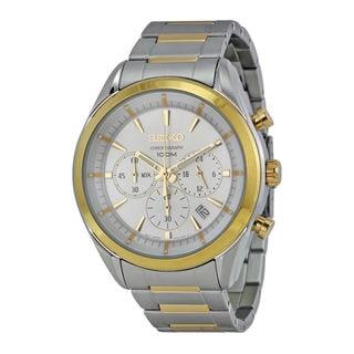 Seiko Men's SSB090P1 Sports White Watch