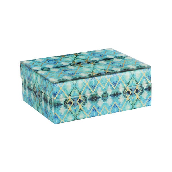 Glass Collage Jewelry Box
