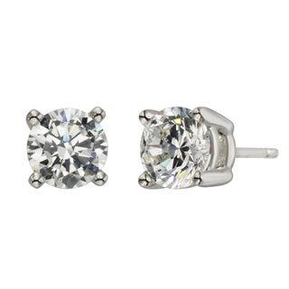 H Star Sterling Silver Diamagem Earrings