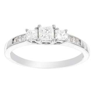 H Star 10k White Gold 1/2ct TDW Diamond Ring (I-J, I2-I3)