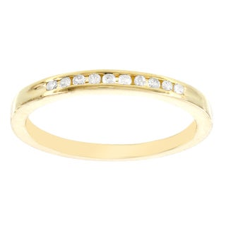 H Star Sterling Silver Yellow Gold Plated 1/10ct Diamond Ring (I-J, I2-I3)