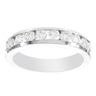 H Star 14k White Gold 1/4ct Diamond Band (I-J, I2-I3)