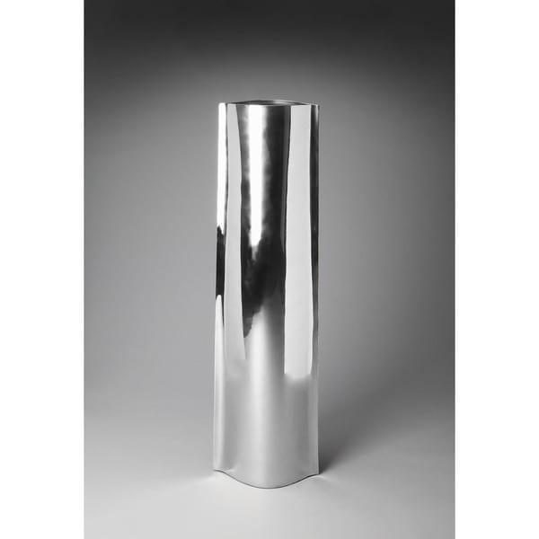 Shop Handmade Butler Daphne Silver Aluminum 3 Foot Modern Floor Vase