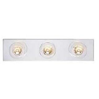 Westinghouse 6640600 Chrome Three Light Bath Bar