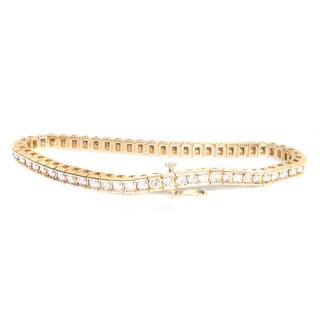 California Girl Jewelry 14k Yellow Gold Diamond Tennis Bracelet