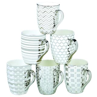 Certified International Elegance Silver-plated Tapered Mugs with Assorted Designs (Pack of 6)|https://ak1.ostkcdn.com/images/products/12071257/P18938941.jpg?impolicy=medium