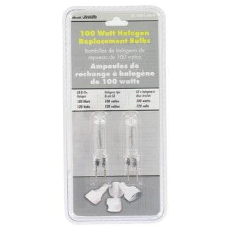 Heathco HZ-5591-A2 100 Watt Bi-Pin Halogen Bulbs 2-count