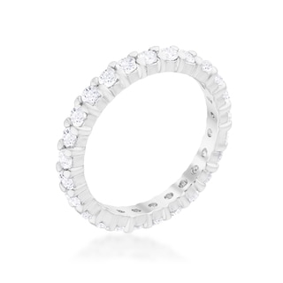 Kate Bissett White Sterling-silver Cubic Zirconia Eternity Band